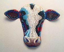 Milk Maker 2 by Michael Dupille (Art Glass Wall Sculpture)