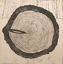 Tree Rings Variable Edition, 4/25 by Diana Arcadipone (Monotype Print)