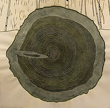 Tree Rings, Variable Edition 15/25 by Diana Arcadipone (Monotype Print)