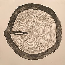 Tree Rings Variable Edition, 11/25 by Diana Arcadipone (Monotype Print)