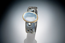 Jodzie Ring with Moonstone by Robin  Sulkes (Gold, Silver & Stone Ring - Size 6.5)
