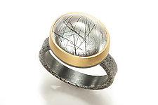 Tourmilated Quartz Ring by Robin  Sulkes (Gold, Silver & Stone Ring)