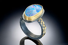 Galaxy Ring by Robin  Sulkes (Gold, Silver & Stone Ring)