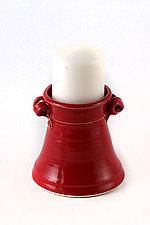 Red Candleholder by Carol Tripp Martens (Ceramic Candleholder)
