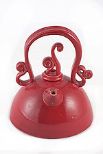 Red and Ready by Carol Tripp Martens (Ceramic Teapot)