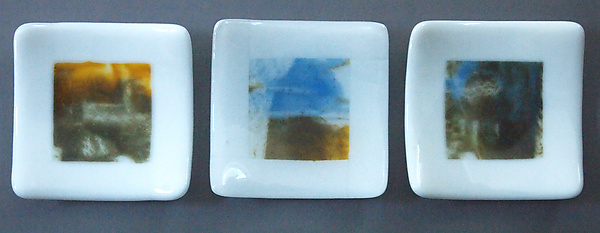 Three Small Abstract Dishes