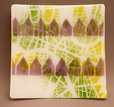 Little Houses Plate II by Martha Pfanschmidt (Art Glass Plate)