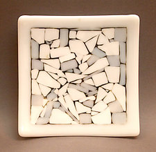 Flagstones Plate by Martha Pfanschmidt (Art Glass Plate)