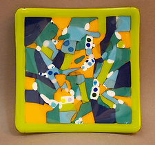 Color Play Plate by Martha Pfanschmidt (Art Glass Plate)