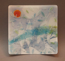 Summer Sun Plate by Martha Pfanschmidt (Art Glass Plate)