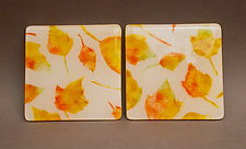 Autumn Leaves Coasters by Martha Pfanschmidt (Art Glass Coasters)