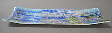 Blue Streamer Tray by Martha Pfanschmidt (Art Glass Platter)