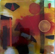 Fire by Martha Pfanschmidt (Art Glass Wall Sculpture)