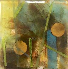 Two Suns by Martha Pfanschmidt (Art Glass Wall Sculpture)
