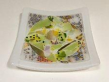 Dots Plate by Martha Pfanschmidt (Art Glass Serving Piece)