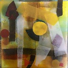 This Way by Martha Pfanschmidt (Art Glass Wall Sculpture)