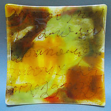 Palimpsest Plate by Martha Pfanschmidt (Art Glass Plate)