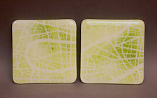 Green Map Coasters by Martha Pfanschmidt (Art Glass Coasters)