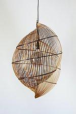 Single Shell Light by Charissa Brock (Mixed-Media Pendant Lamp)