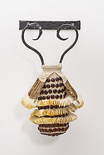 Amphora Coleoptera by Charissa Brock (Art Glass & Steel Wall Sculpture)