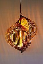 Double Shell Lamp by Charissa Brock (Mixed-Media Pendant Lamp)
