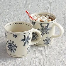 Let it Snow Mug by Nicole Aquillano (Ceramic Mug)