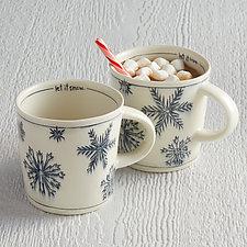 Let it Snow Mug by Nicole Aquillano (Ceramic Mug)
