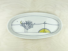 Sunset Birds Platter by Nicole Aquillano (Ceramic Platter)
