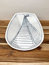 Staircase Serving Dish by Nicole Aquillano (Ceramic Platter)