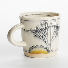 Sunset Birds Mug by Nicole Aquillano (Ceramic Mug)