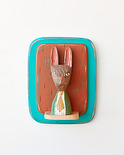 Bunny Man Mini by Amy Arnold and Kelsey  Sauber Olds (Wood Wall Sculpture)
