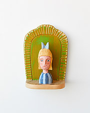 Girl Mini II by Amy Arnold and Kelsey  Sauber Olds (Wood Wall Sculpture)