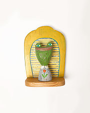 Frog Mini by Amy Arnold and Kelsey  Sauber Olds (Wood Wall Sculpture)