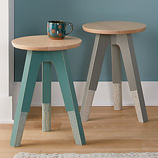 Triad Table/Stool by Amy Arnold and Kelsey  Sauber Olds (Wood Side Table)