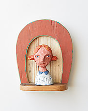 Girl Mini by Amy Arnold and Kelsey  Sauber Olds (Wood Wall Sculpture)