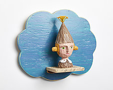 Zinnia by Amy Arnold and Kelsey  Sauber Olds (Wood Wall Sculpture)