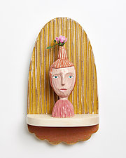 Rose by Amy Arnold and Kelsey  Sauber Olds (Wood Wall Sculpture)