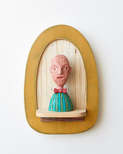 Mister Mini by Amy Arnold and Kelsey  Sauber Olds (Wood Wall Sculpture)