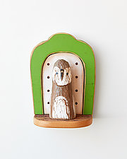 Owl Mini by Amy Arnold and Kelsey  Sauber Olds (Wood Wall Sculpture)