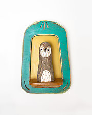 Barn Owl Mini by Amy Arnold and Kelsey  Sauber Olds (Wood Wall Sculpture)