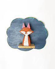 Fox Mini by Amy Arnold and Kelsey  Sauber Olds (Wood Wall Sculpture)