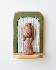 Poodle Mini by Amy Arnold and Kelsey  Sauber Olds (Wood Wall Sculpture)