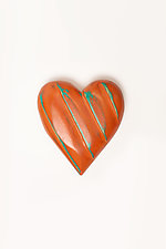 Carved Wood Heart by Amy Arnold and Kelsey  Sauber Olds (Wood Wall Sculpture)