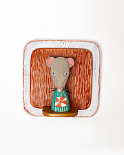 Mouse Mini by Amy Arnold and Kelsey  Sauber Olds (Wood Wall Sculpture)