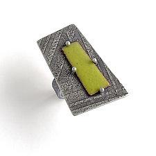 Enamel Wedge Ring by Jane Pellicciotto (Enameled Ring)