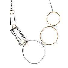 Bolla Necklace by Jane Pellicciotto (Silver and Bronze Necklace)