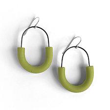 Arcata Hoop Earrings by Jane Pellicciotto (Silver & Polymer Earrings)