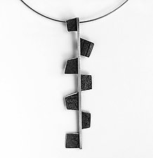 Fragment Spear Pendant Necklace by Jane Pellicciotto (Silver & Steel Necklace)