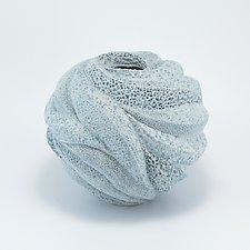 Daryah Soft Blue Sea Vessel by Judi Tavill (Ceramic Vase)