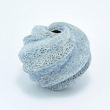 Ariel Blue Sea Coastal Vessel by Judi Tavill (Ceramic Vase)